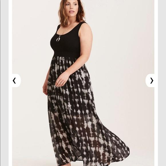 fc32d5ada1 torrid Dresses | Tie Dye Chiffon Shirt Knit Top Maxi Dress | Poshmark